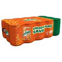 Mirinda Orange Carbonated Soft Drink Mini Cans 155mlx15