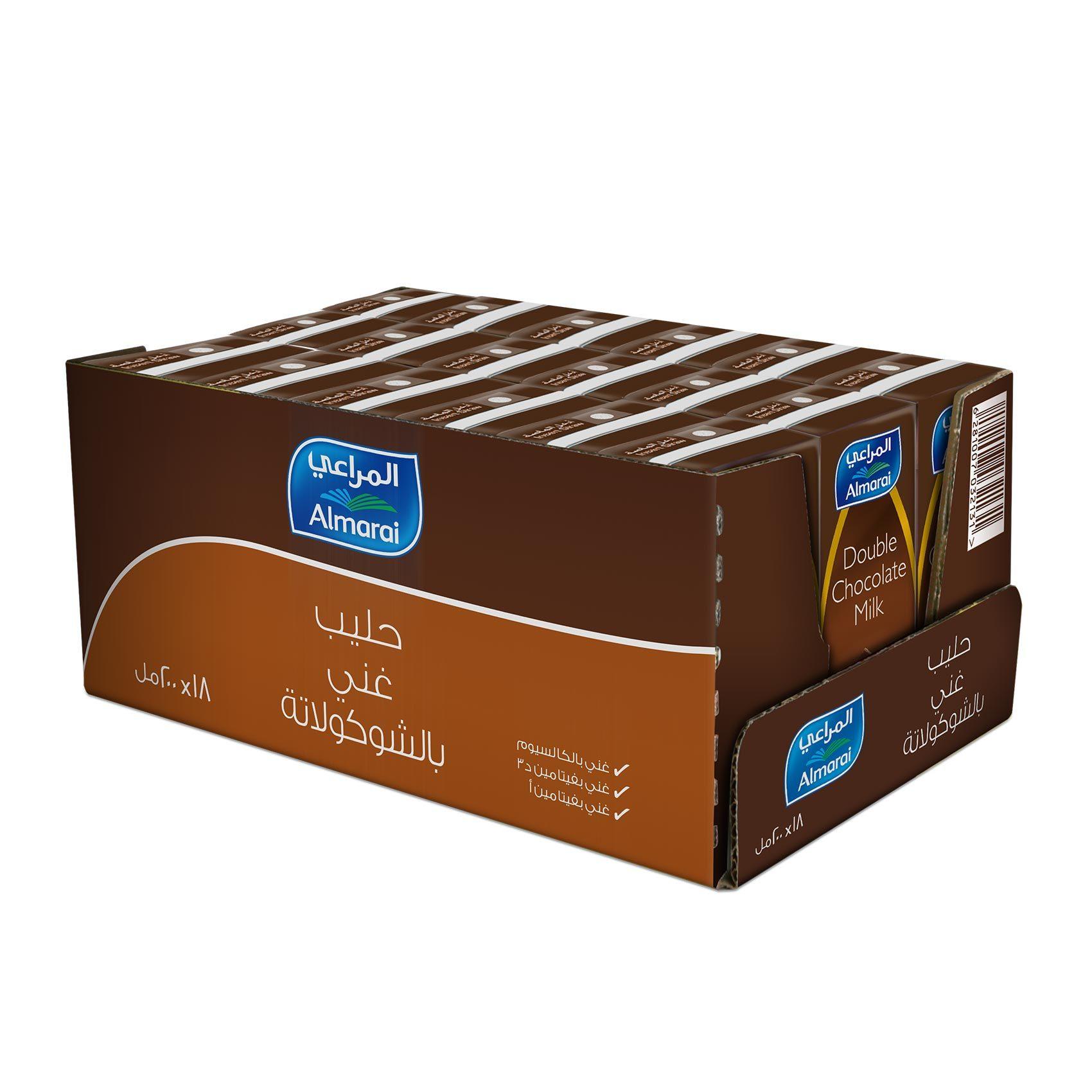 Buy Almarai Double Chocolate Milk 200 Ml X 18 Online Shop Fresh Food On Carrefour Saudi Arabia
