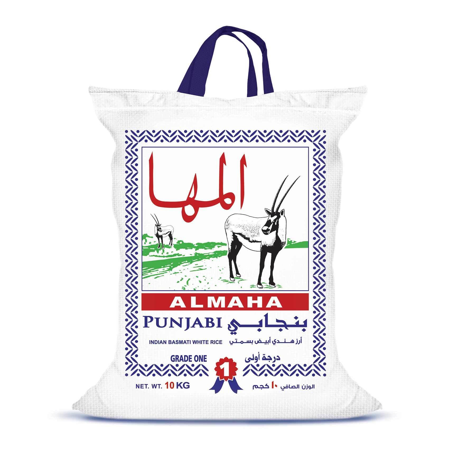 Buy Almaha Punjabi Indian Basmati White Rice 10 Kg Online Shop Food Cupboard On Carrefour Saudi Arabia