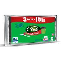 Sanita club trash bag economy pack 20 gallons large 52 bags x 4 rolls