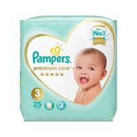 Pampers premium care diapers size 3 midi carry pack 25 diapers