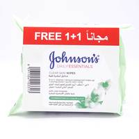 Johnson's daily essentials clear skin wipes × 25 +1