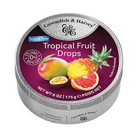 Cavendish & Harvey Drops Tropical Fruit Sugar Free 175GR
