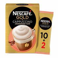 Nescafe gold cappuccino unsweetened taste coffee 14.2g X 10+2