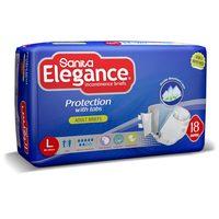 Sanita Elegance  incontinence Unisex Adult Diapers Large,(85-154 CM)- 18 PAD