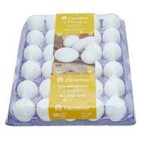 Carrefour Fresh Omega3 Eggs Large White 30 Pieces