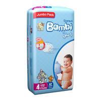 Bambi 4 jumbo pack 4 large 8-16 kg x 62 diapers