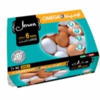 Jenan Omega3 white Large 6 Eggs
