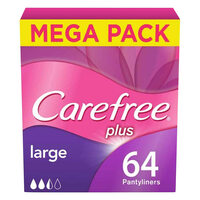 Carefree Panty Liners Large Pack of 64