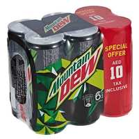 Mountain Dew Carbonated Soft Drink Can 245mlx6