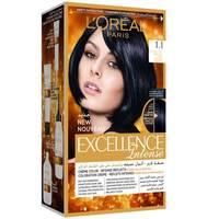 L'Oreal paris excellence intense hair color  1.1 deep black