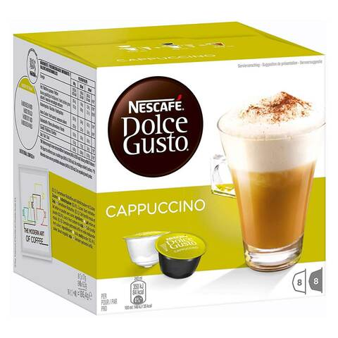 Nescafe Dolce Gusto Cappuccino Coffee 186g (16 Capsules)