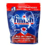Finish all in 1 powerball dishwasher detergent tablets 20 Tablets