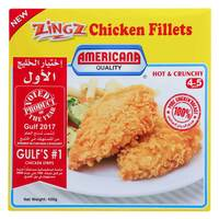 Americana Zingz Hot and Crunchy Chicken Fillets 420g