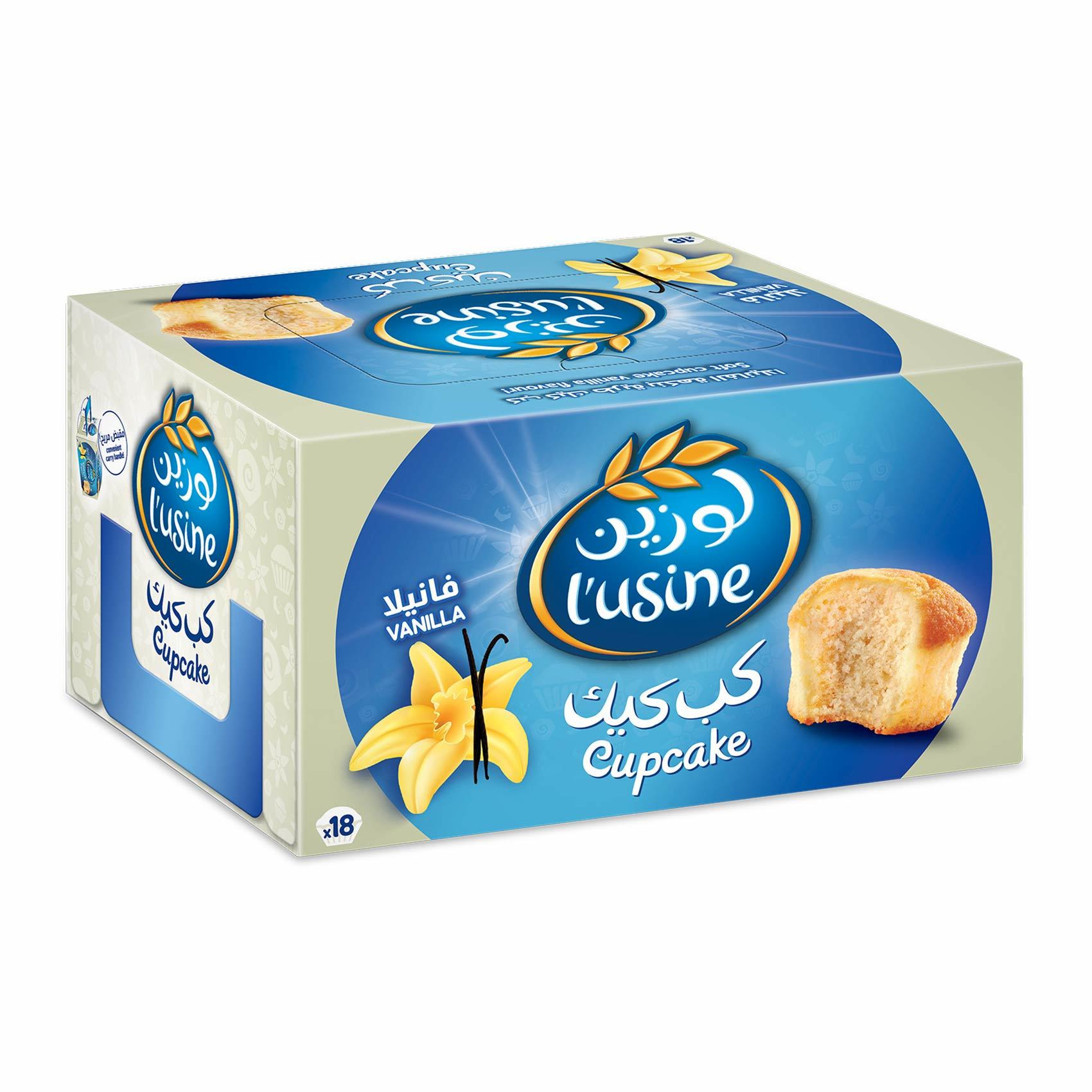 Buy Lusine Cup Cakes With Vanilla Filling 30 G X 18 Pieces Online Shop Bakery On Carrefour Saudi Arabia
