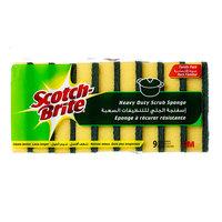 Scotch-Brite Heavy Duty Scrub Sponges x Pack of 9
