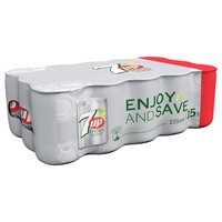 7UP Free Carbonated Soft Drink Mini Cans 155mlx15
