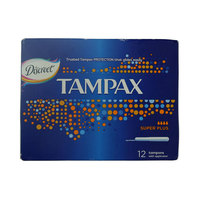 Discreet Tampax Super Plus Tampons Pack of 12