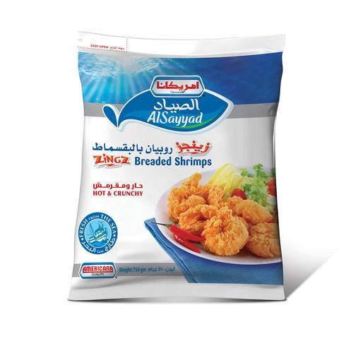 Buy Americana Zingz Breaded Shrimp Hot Crunchy 750 G Online Shop Frozen Food On Carrefour Saudi Arabia