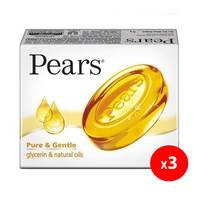 Pears pure & gentle pure glycerin & natural oil soap 125 g × 3