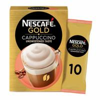 Nescafe gold unsweetened cappuccino instant coffee 14.2 g x 10 mugs