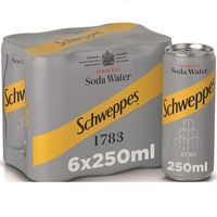 Schweppes Soda Water Can 250mlx6