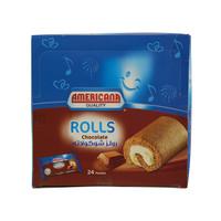 Americana Quality Mini Chocolate Rolls 25g x Pack of 24