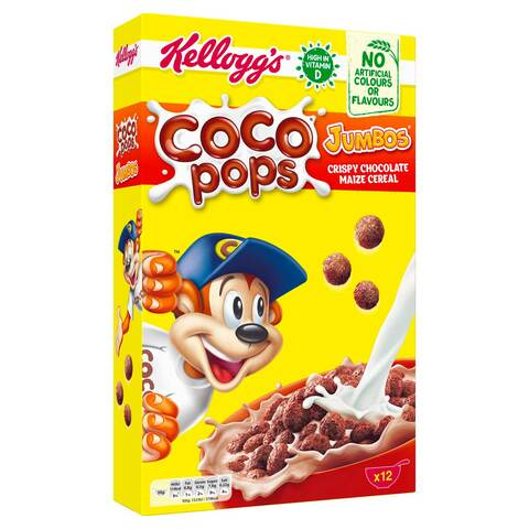 Buy Kellogg S Coco Pops Jumbos Crispy Chocolate Maize Cereal 375 G Online Shop Food Cupboard On Carrefour Saudi Arabia