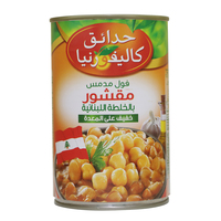 California Garden Canned Peeled Fava Beans Lebanese Recipe 450g
