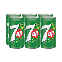 7-Up Soft Drink Can 185ML X6