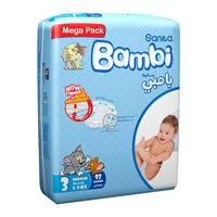 Bambi mega pack 3 modim 92 diapers