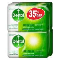 Dettol Original Anti Bacterial Soap 120gx4