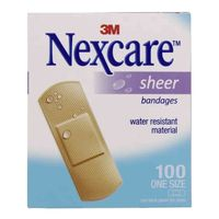 3M Nexcare Sheer Bandages 100 Strips