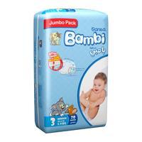 Bambi 3 jumbo pack 3 med 5-9 kg x 70 diapers