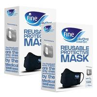 Fine Guard Comfort Adult Face Mask With Virus-Killing Livinguard Technology Size Large X2