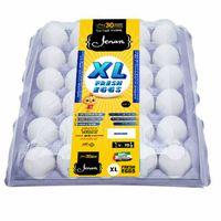 Jenan White X-Large 30 Eggs