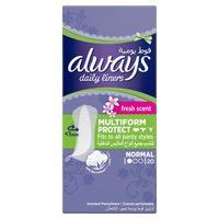 Always Daily Liners Comfort Protect Normal Fresh Scent Multiform Protect 20 Count