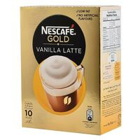 Nescafe Gold Vanilla Latte Coffee 18.5g x Pack of 8