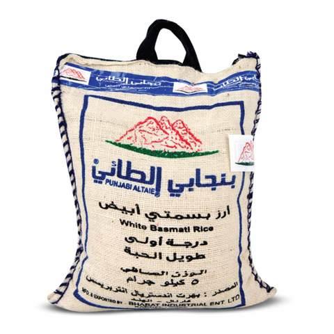 Buy Punjabi Al Taie White Basmati Rice 5 Kg Online Shop Food Cupboard On Carrefour Saudi Arabia