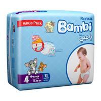 Bambi 4 + value pack  4 large + 10 - 18 kg x 33