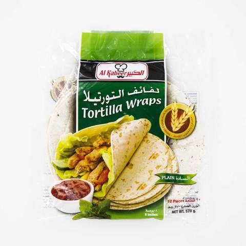 Buy Alkbeer Plain Tortilla Wraps Bread 12 Pieces 570 G Online Shop Frozen Food On Carrefour Saudi Arabia