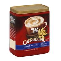 Hills Bros Cappuccino French Vanilla Instant Coffee Mix 454g