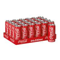 Coca cola soft drink 330 ml x 24 pieces