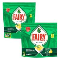 Fairy Dishwasher All In One Lemon Detergent 26+16 Tablets