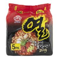 Ottogi Korean Style Instant Noodles Yeul Ramen 120g x Pack of 5