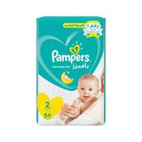 Pampers New Baby-Dry Diapers Size 2 Mini Value Pack 64 diapers
