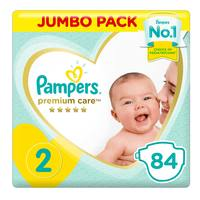 Pampers Premium Care Diapers Size 2 Mini 3-8 kg Jumbo Pack 84 Count