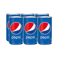 Pepsi Soft Drink Can 185ML X6