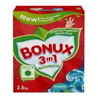 Bonux original 3 in 1 detergent powder low foam 2.5 Kg