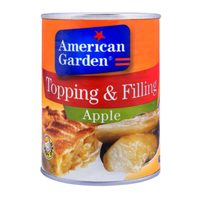 American Garden Topping and Filling Apple 595g